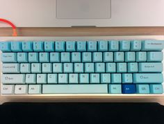 Poker II with Keycool gradient keycaps and Tex case