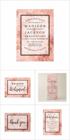 Peach Marble Watercolor - Wedding Suite
