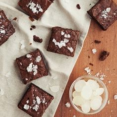 Mint Candy infused Brownies! A surprise in your mouth! #foodgawker