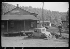 Miners' homes, abandoned town, Jere, West Virginia