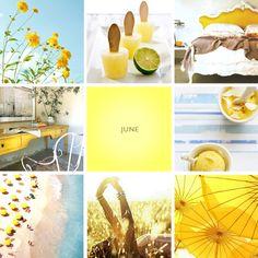Amarillo Azul Junio playa polo de limón sombrillas sorbete helado yellow blue junio beach lemon ice-cream sorbet