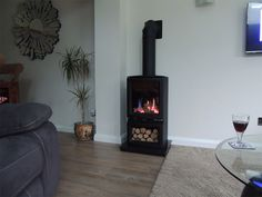 So pleased we chose this gas alternative to a log burning stove. It& instant, clean and we are able to put it on for a short while on cold mornings just to lift the temperature. Gas Log Burner, Log Burning Stoves, Gas Logs, Gas Stove Fireplace, Set Apart, Gas Fires, Extension Ideas, Lounge Ideas, House Extensions