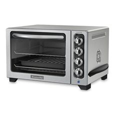 I recently got rid of my microwave (which I seldom used) and used the counter space for a toaster oven instead. Now, I almost never use my stove! The small space heats up quickly and having the convection and broil options make this a diverse tool.  KitchenAid® 12'''' Convection Bake Countertop Oven - Silver - Bed Bath & Beyond