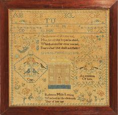 Sampler from Stephen & Carol Huber by Rebecca Laning c. 1820