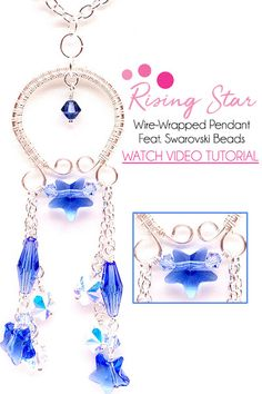 How-To Jewelry Tutorial: Rising Star Necklace Sara Ellis, Beaded Watches, Diy Jewelry Projects, Artistic Wire, Wire Weaving, Star Necklace, Wire Wrapped Pendant, Dandy, Beaded Jewelry