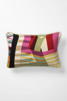 Colorfield Collage Pillow, Large - Anthropologie.com