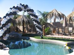 Looking for a balloon arch? Give Balloon Classics a call We specialize in large balloon decor for corporate events and small private parties. Balloon Decorations, Balloon Ideas, Balloon Drop, Outdoor Events, Outdoor Decor, Large Balloons, Neon Party, Grad Parties, Arches