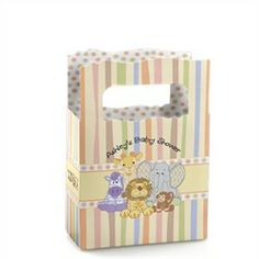 Zoo Crew - Mini Personalized Baby Shower Favor Boxes