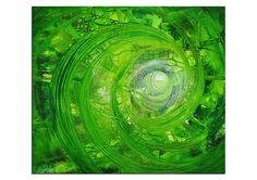 "Abstraktes grünes Acrylgemälde RK The Artmakers ""Innerer Fluss II"", Acrylbild Kunst Malerei modern Bilder Acrylmalerei Wandbild Gemälde"