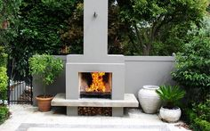New backyard deck fireplace outdoor rooms Ideas Outside Fireplace, Outdoor Fireplace Designs, Backyard Fireplace, Backyard Patio, Outdoor Fireplaces, Outdoor Rooms, Outdoor Living, Outdoor Decor, Outdoor Kitchens