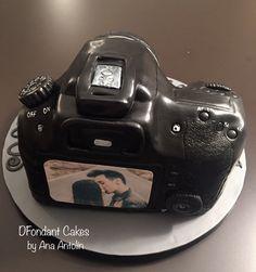 Tarta cámara Canon D60 de fondant. DFondant Cakes