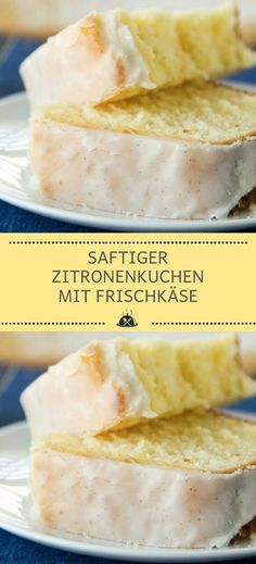 Juicy lemon cake with cream cheese - the kitchen-Saftiger Zitronenkuchen mit Frischkäse – Die Küche Juicy lemon cake with cream cheese – the kitchen - Food Cakes, Healthy Chicken Recipes, Crockpot Recipes, Baking Recipes, Dessert Recipes, Lemon Desserts, Cake With Cream Cheese, Yummy Cakes, Fall Recipes
