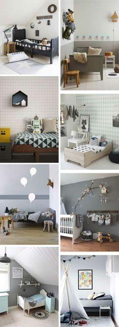 Decorating a kids room using grey Baby Boy Rooms, Little Girl Rooms, Deco Kids, Kids Room Organization, Kids Room Design, Kid Spaces, Kids Decor, Home Interior Design, Kids Bedroom