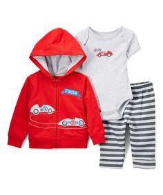 Another great find on #zulily! Red Racecar Bodysuit Set - Infant #zulilyfinds