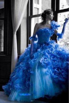 Color splash | A splash of Color | Blue dress