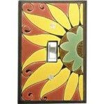 Mexican Sunflower Ceramic Switch Plate