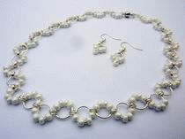Chainmaille white necklace