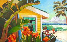 Tropical Beach Cottage Bungalow by the Sea by RobinWetheAltman