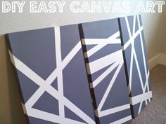 DIY canvas art with spray paint and painters tape