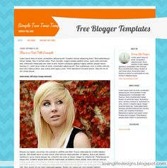 Four Free Blogger Template Designs - {Free Blog Template}