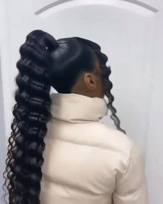 High Weave Ponytail, High Ponytail Styles, Sleek Ponytail, High Ponytails, Long Ponytail Hairstyles, Baddie Hairstyles, Weave Hairstyles, Black Girl Ponytails, Hair Puff