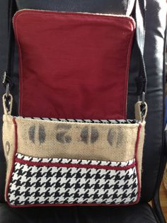 Alabama Crimson Tide burlap purse