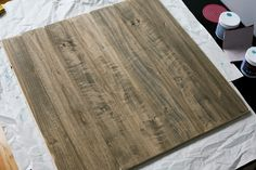 How to create a distressed wood photo backdrop. Perfect for photographing crochet hats. :)