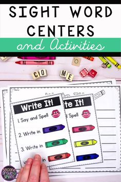 Need center activities for teaching high frequency word reading or spelling in kindergarten, grade, or grade? Check out these fun, hands-on activities for learning sight words! Visual direction pages guide your littlest learners to work independently! Learning Sight Words, First Grade Sight Words, High Frequency Words Kindergarten, Kindergarten Sight Words List, 1st Grade Activities, Sight Word Activities, Word Games, Reading Activities, Spelling Word Practice