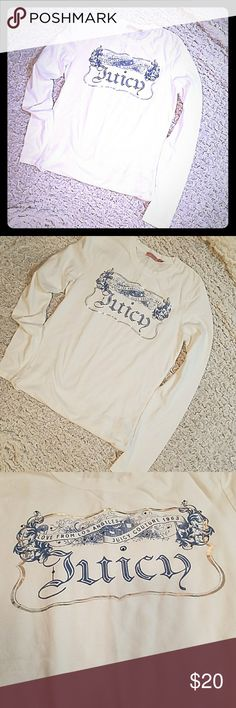 Juicy Couture Top White & Blue JC Top 💙 Excellent Condition Juicy Couture Tops