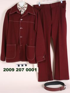 Maroon Polyester Leisure Suit (1974)