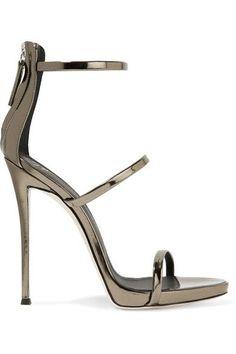Giuseppe Zanotti - Harmony Metallic Leather Sandals - Brass - IT37.5