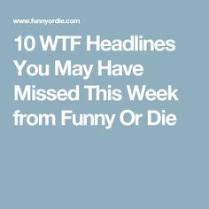 10 WTF Headlines You May Have Missed This Week from Funny Or Die
