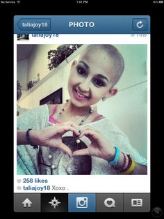 TALIA!! <3 This girl. Is. Freaking. Amazing. If you don't know her, she's a beauty guru on YouTube and she's so inspirational.. She has two types of cancer, still fighting the battle. Subscribe to her on YouTube- taliajoy18