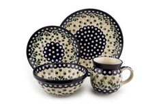 Polish Pottery Alyce 4 Piece Dinner Set