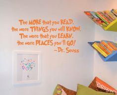 Dr. Seuss Saying Wall Decal Nursery Play Room Vinyl Decor on Etsy, $22.00
