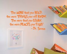 Dr. Seuss Saying Wall Decal Nursery Play Room by AllOnTheWall, $22.00