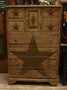 Amish Primitive Chest Of Drawers Stars - traditional - dressers chests and bedroom armoires - Dutch Crafters