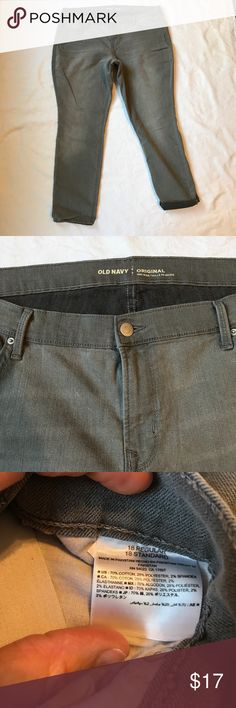 Old Navy Gray Pants original mid rise  size 18 Old Navy Gray Pants original mid rise size 18 reposhing as I felt these were a tad bit larger than 18 these are super soft & comfy small flaw noted on last  pic, these have more of a distressed look so does not look out of place. Feel free to bundle & make offer Old Navy Jeans