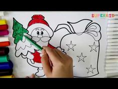 Coloring Santa Claus - We Wish You a Merry Christmas - Christmas Coloring - YouTube