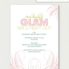 Printable bachelorette party invitation. Even Ali wants one :)