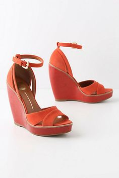 Glossed Groundwork Wedges  #anthropologie