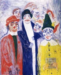 James Ensor was a Belgian painter and printmaker, an important influence on expressionism and surrealism and at one point member of Les Nabis Maurice Denis, Gustav Klimt, American Figurative Expressionism, James Ensor, Chaim Soutine, Organic Art, Virtual Art, A Level Art, Masks Art