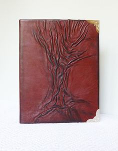 Leather Album Photo Album 4x6 Tree Painting Leather by AnnaKisArt