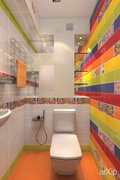 Easy Colorful Bathroom 56 About Remodel Home Design Ideas by Colorful Bathroom Can you Want a good living space decoration concept? Well, for this particular matter, you want to understand about the Colorful Bathroom. The theme i. Bathroom Color Schemes, Bathroom Colors, White Bathroom, Colorful Bathroom, Bathroom Modern, Bright Rooms, Bathroom Pictures, Bathroom Ideas, Bathroom Furniture