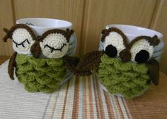 Ravelry: Owl mug cozy pattern by Justyna Kacprzak 3.50