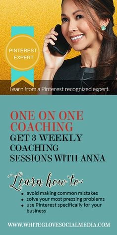 Many business owners are using Pinterest incorrectly and not only are they wasting their time, they are actually damaging their brands. Stop trying to figure out Pinterest and get the solutions specifically designed for you business with Pinterest Expert Anna Bennett. Learn more at http://www.whiteglovesocialmedia.com/pinterest-coaching-one-on-one/ | Pinterest for Business