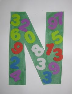 """~James is 34 months~  Art & Music:  James had a blast making our N craft, and kept saying: """" Numbers begin with N!""""  We jumped, waddled, twi..."""