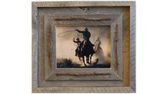 Western Barnwood Frame with Barbed Wire  The by mybarnwoodframes