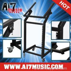 AI7MUSIC Portable Studio Equipment Mixer Case rack mount Stand 12U+15U