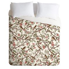 Belle13 Sparrow Tree On A Spring Day Duvet Cover | DENY Designs Home Accessories